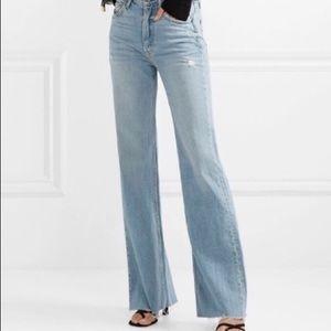 New NWT $250 GRLFRND Carla high rise flared Jeans